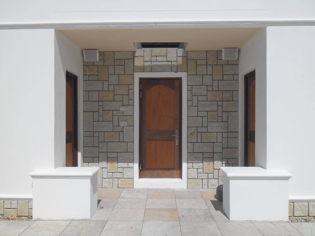Entrance to Gym and Male Female Cloakrooms Set in Natural Stone Facade