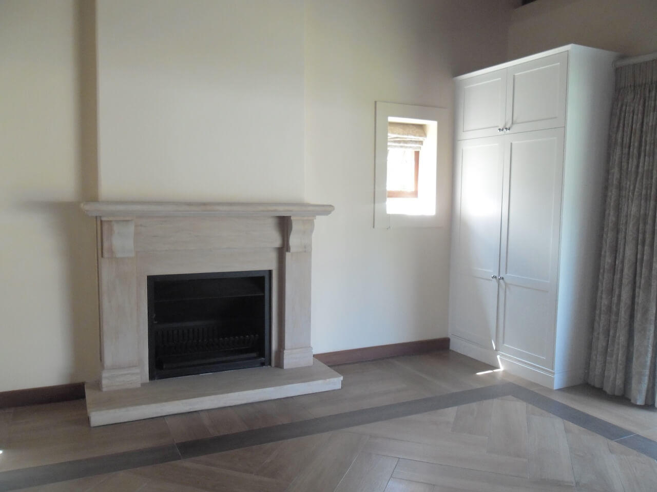 Inpatient Rooms All With Private Fireplaces. Underfloor Heating on Handcrafted Wood Look Imported Tiles
