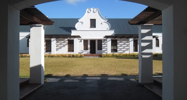 Modernised Traditional Cape Dutch Grand Entrance